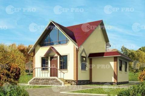 Проект дома из сип Н2- 124 м2