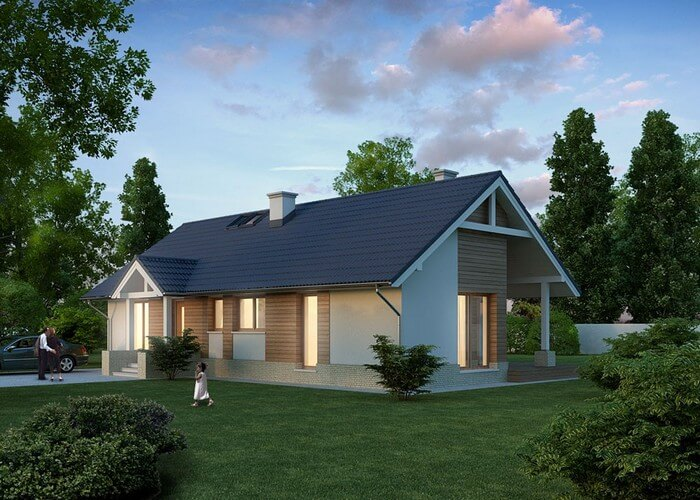 Проект дома из сип Н1- 115