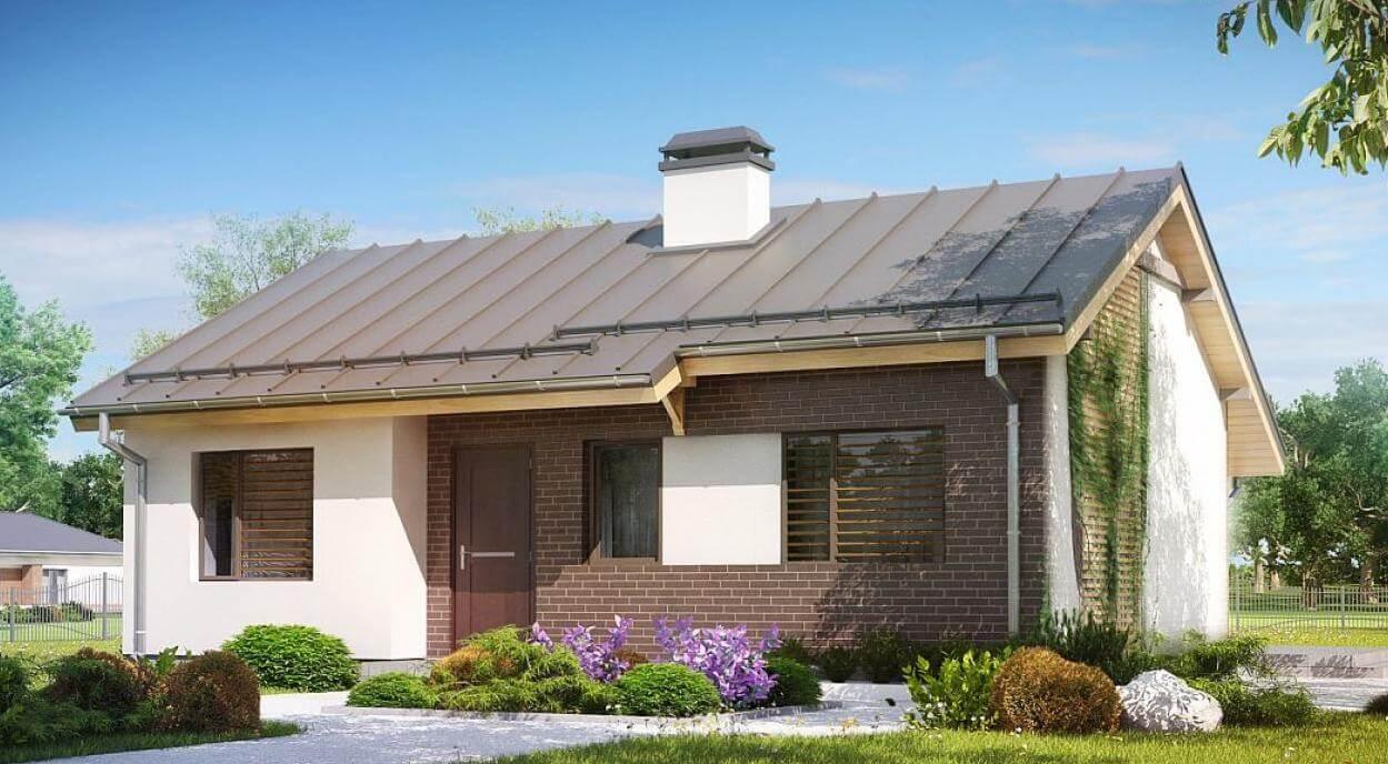 Проект дома из сип Н1- 105 м2