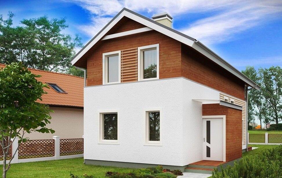 адаптирована проект маленького дома из блоков Мои покупки Мой