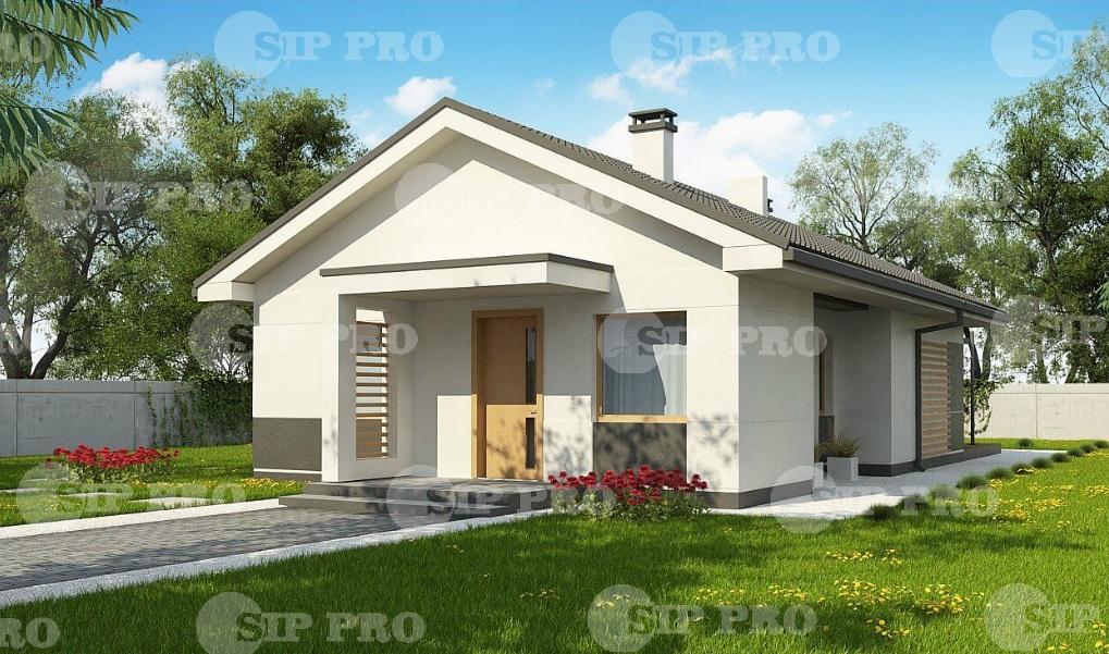 Проект дома из сип Н1- 123 м2