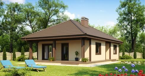 Проект дома из сип Н1- 110 м2