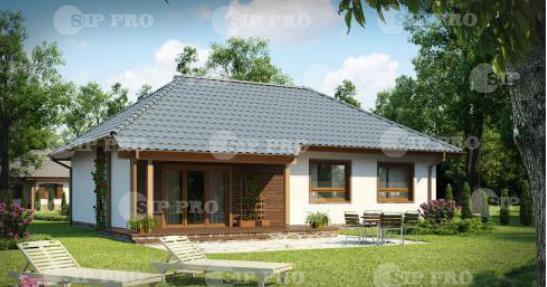 Проект дома из сип Н1- 130 м2
