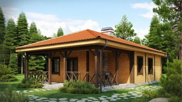 Проект дома из сип Н1- 118 м2