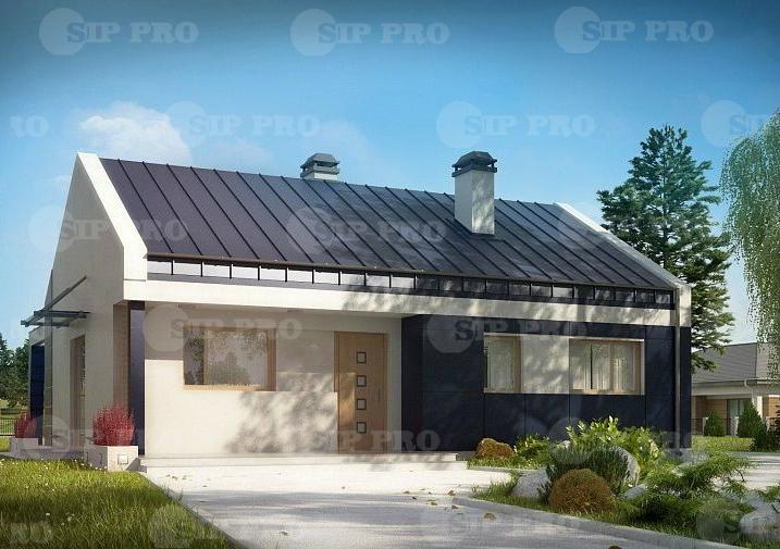 Проект дома из сип Н1-66 м2