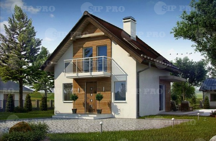 Проект дома из сип Н2-86