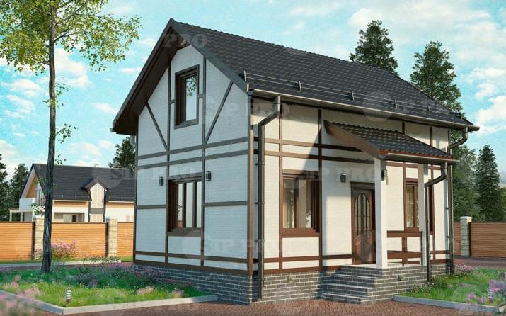 Проект дома из сип Н2- 105 м2