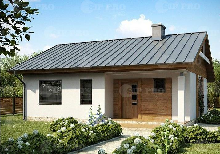 Проект дома из сип Н1-86 м2