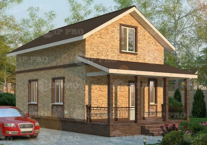 Проект дома из сип Н2-113 м2