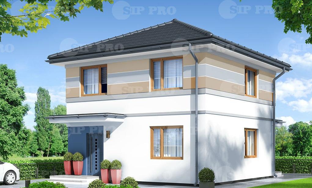 Проект дома из сип Н2-114 м2