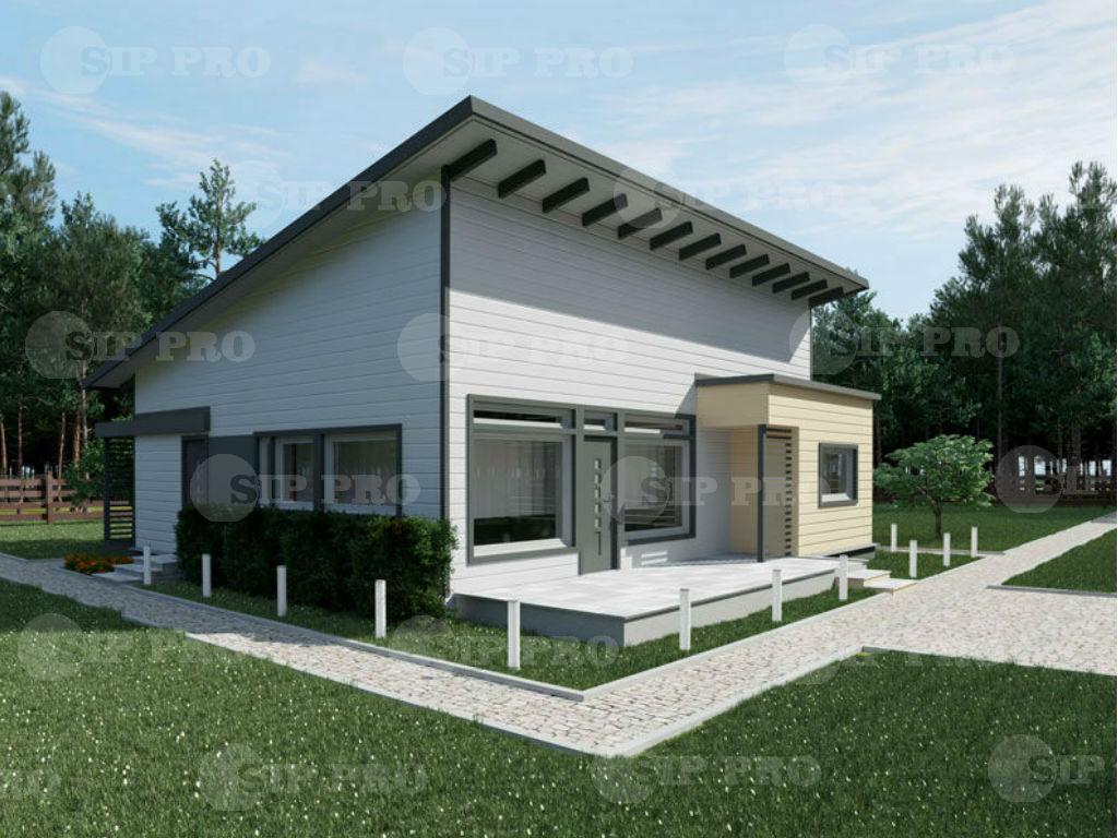 Проект дома из сип Н1-129 м2