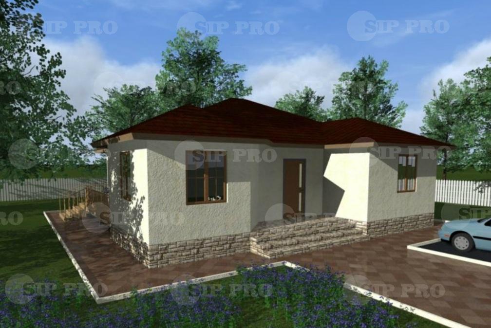 Проект дома из сип Н1-125/1 м2