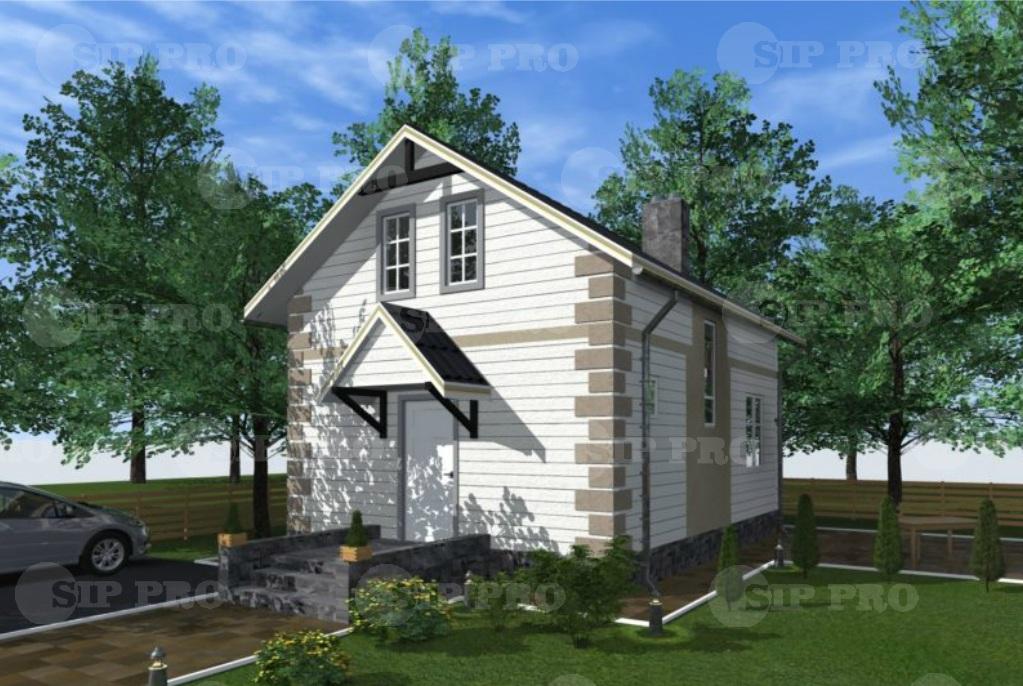 Проект дома из сип Н2-102 м2