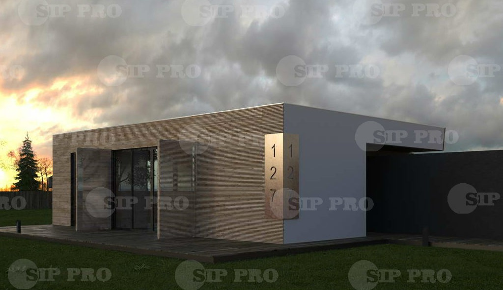 Проект дома из сип Н1-111 м2
